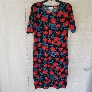 Lularoe  Bodycon Floral Print Dress Size M NWT